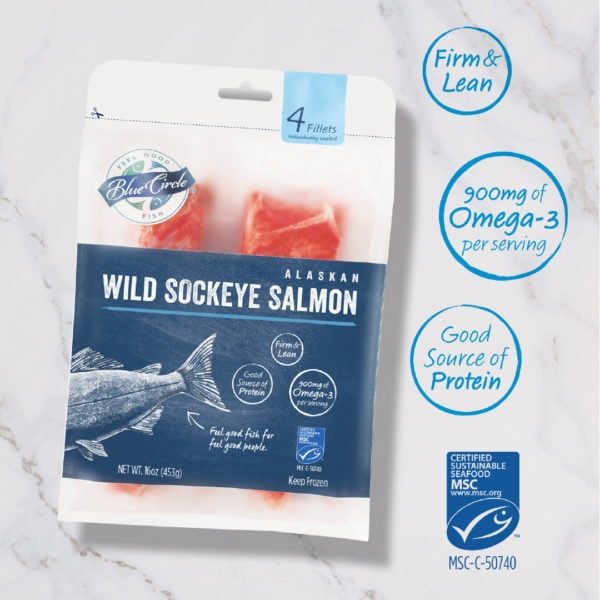 blue circle foods sockeye salmon
