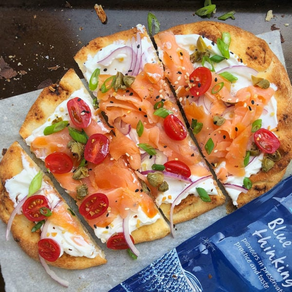 Blue Circle Foods Naan Flatbread With Smoked Salmon
