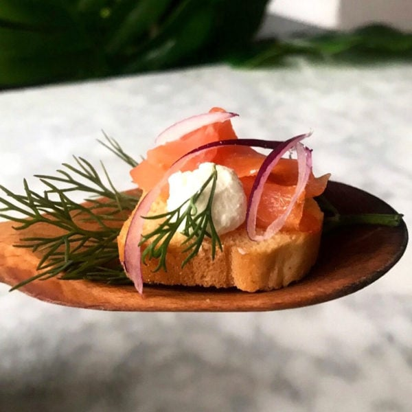 Smoked Salmon Crostinis Recipe Blue Circle Foods