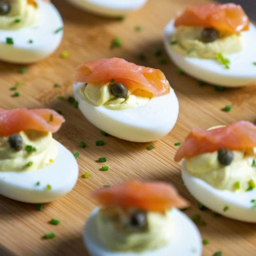 Blue Circle Foods Smoked Salmon Deviled Eggs