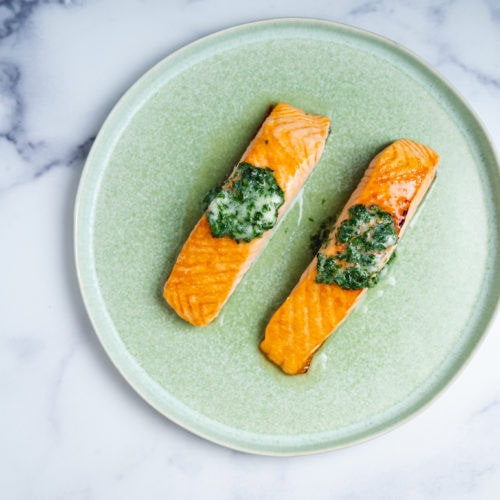 Blue Circle Foods Roasted Salmon with Herb Butter Recipie