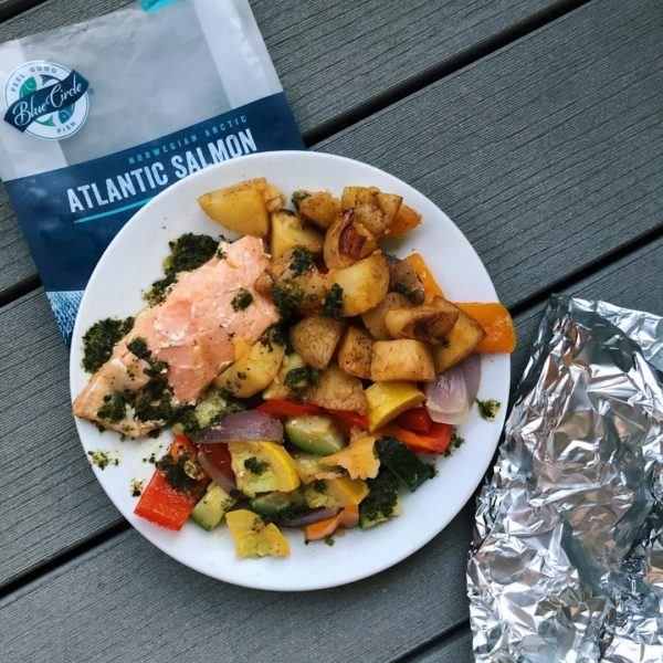 grilled salmon foil packets